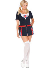 Adult British School Girl Costume Plus Size