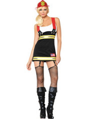 Adult Backdraft Babe Firefighter Costume