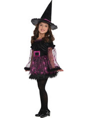 Girls Darling Witch Costume
