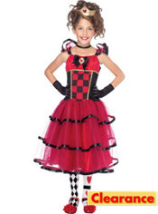 Girls Wonderland Queen Costume