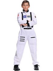 Boys White Astronaut Costume