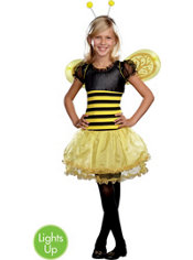Girls Busy Lil Bee Light-Up Costume
