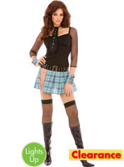 Adult Bad Girl Light Up School Girl Costume