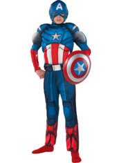 Boys Captain America Muscle Costume