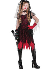 Girls Deadly Wed Costume