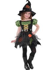Girls Pumpkin Patch Witch Costume