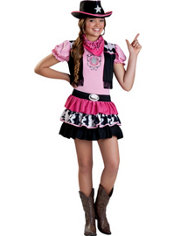 Girls Giddy Up Cowgirl Costume