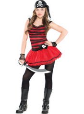 Teen Girls Sassy Lass Pirate Costume
