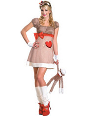 Adult Sock Monkey Costume Deluxe