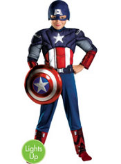 Boys Light-Up Captain America Muscle Costume - The Avengers