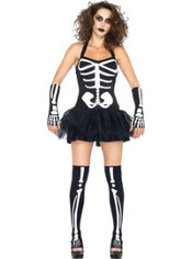 Adult Sexy Glow in the Dark Skeleton Costume