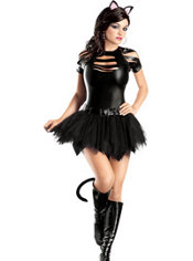 Adult Sexy Mean Kitty Costume