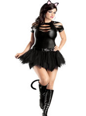 Adult Sexy Mean Kitty Costume Plus Size