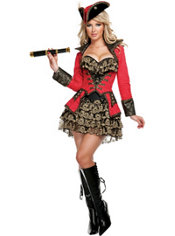 Adult Red Hot Buccaneer Costume