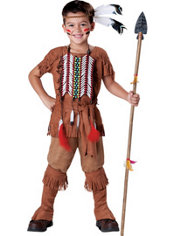 Boys Indian Brave Costume Elite