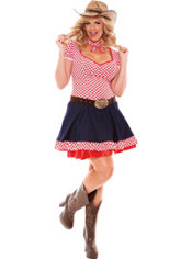 Adult Hayloft Honey Cowgirl Costume Plus Size