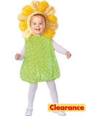 Toddler Plush Belly Sunflower Costume