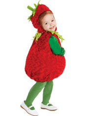 Toddler Plush Belly Strawberry Costume