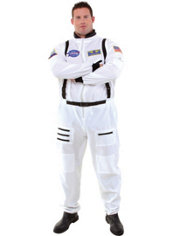 Adult White Astronaut Costume Plus Size