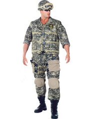 Adult U.S. Army Ranger Costume Plus Size Deluxe