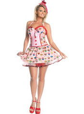 Adult Sugar Cupcake Costume Plus Size