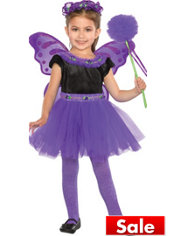 Girls Purple Madden Fairy Princess Costume