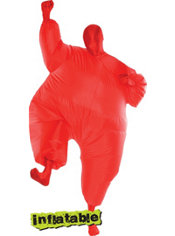 Adult Red Infatable Morphsuit