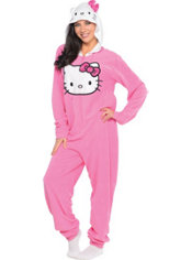 Adult Hello Kitty One Piece Pajama