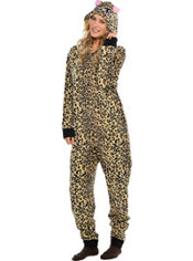 Adult Leopard One Piece Pajama