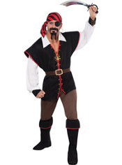Adult Rebel of the Sea Pirate Costume