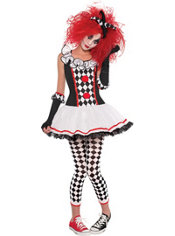 Teen Girls Harlequin Honey Costume