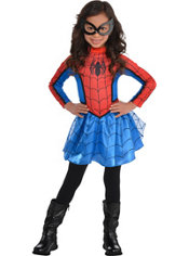 Girls Red Spider-Girl Costume