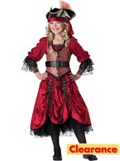 Girls Swashbuckling Scarlet Pirate Costume Prestige