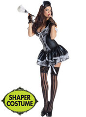 Adult French Maid Body Shaper Costume