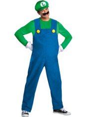 Adult Luigi Costume Plus Size Premium - Super Mario Brothers