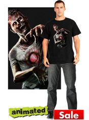 Prowling Zombie Animated T-Shirt