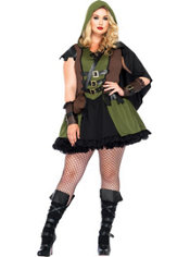 Adult Darling Robin Hood Costume Plus Size