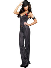Adult Crime Time Gangster Costume
