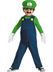 Toddler Boys Luigi Costume - Super Mario Brothers