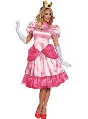 Adult Princess Peach Costume Deluxe - Super Mario Brothers