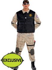 Adult Seal Team Hero Costume Plus Size