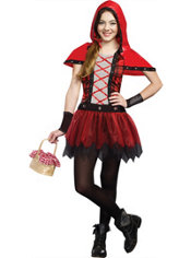 Girls Rockin' Red Riding Hood Costume