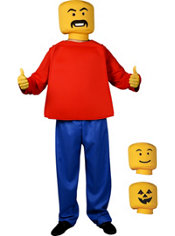 Boys Custom Mr. Block Head Costume