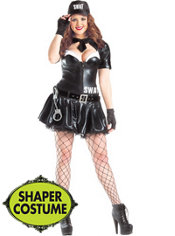 Adult SWAT Body Shaper Costume Plus Size