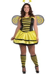 Adult Bumble Beauty Bee Costume Plus Size