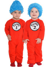 Baby Thing 1 and Thing 2 Costume - Dr. Seuss