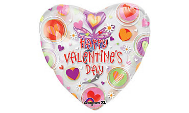 Foil Butterfly Swirl Insider Dangler Valentines Day Balloon 32in