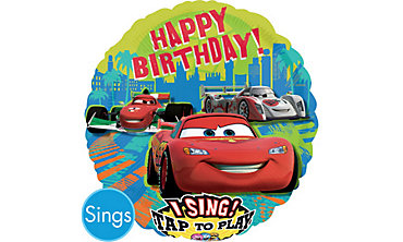 Foil Cars Singing Balloon 28in