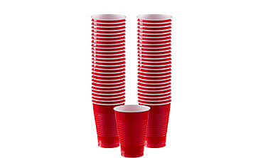 BOGO Red Plastic Cups 12oz 50ct