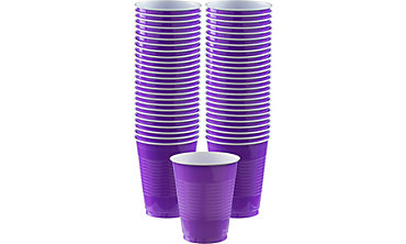 Purple Plastic Cups 16oz 50ct